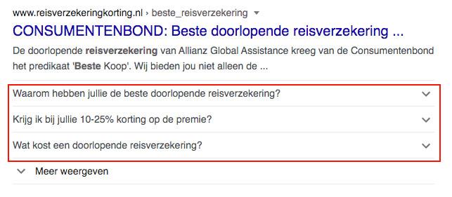 google serp veelgestelde vragen